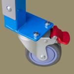 Lockable swivel rollers